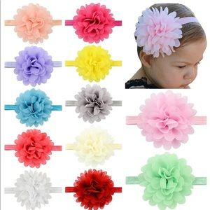 Other - Baby girl Chiffon Flower Headbands